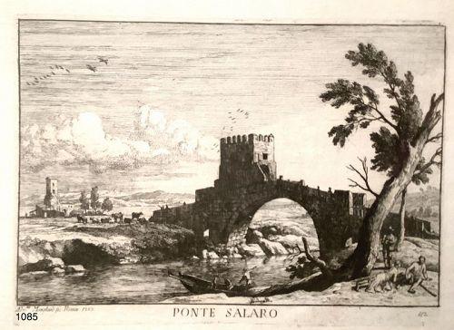 Beautiful Etching from 18th Century �PONTE SALARO �12x9�