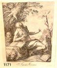 """Antonius BRACCIOLI Eighteenth Century  Drawing  Saint Jerome 21x13"""""""