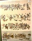 """A. ROESELER """"Die Treijagd"""" lithograph 30x22"""".   Circa 1900"""