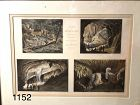 """1856 Lithograph """"Views of Wyer's Cave 15x20"""""""