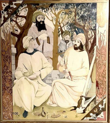 Beautiful Persian Watercolor 19x16�