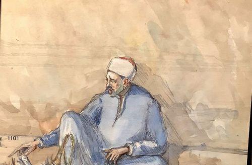 Beautiful Watercolor Arab Man 9x14�
