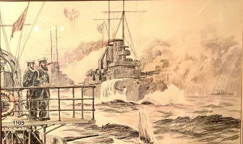 J Lesser WWI Drawing 11x18�