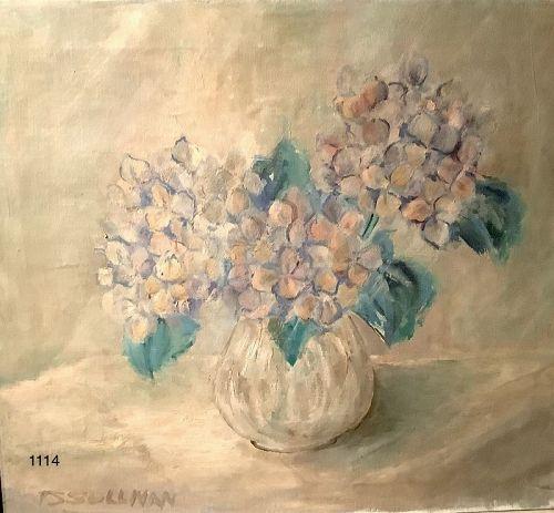 Artist Sullivan oil Floral Work 16x20�