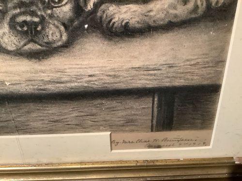 Mrs. Charles Brianspere  Charcoal 21x24�