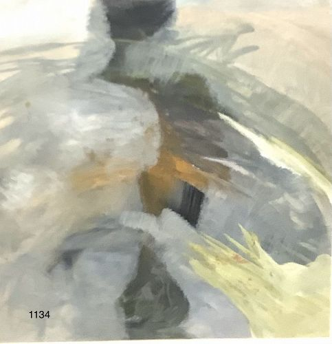 Abstract Oil �Inside The Square� 12x12�