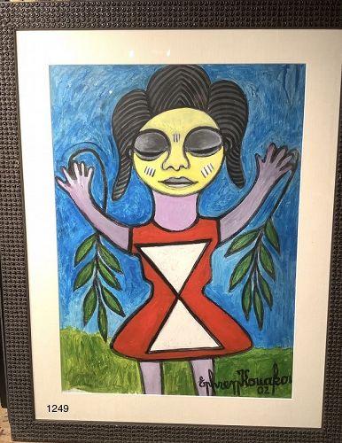Ivory Coast Artist Ephrem KOUAKOU Oil 36x28� Princess