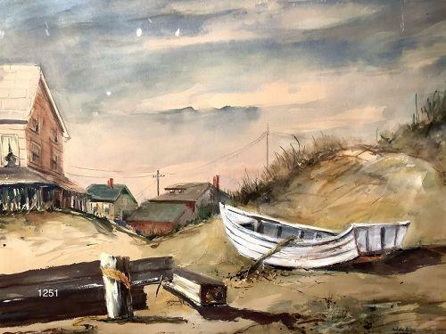 New England Watercolor play artist Adele Giles 28 x 34� original