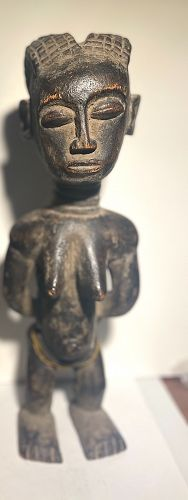 African Dan Figure with Beads & Child