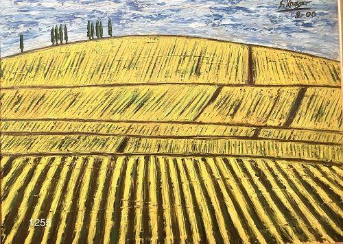American  Artist Stephen Krueger �Vinyard� Oil 27x35�