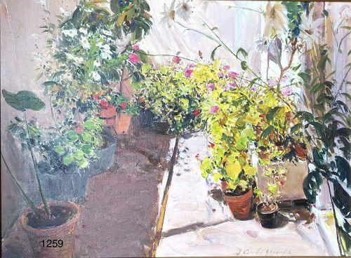 Jorges Cerdá Gironés Spanish Master Artist �Gardina� Oil 24x32�