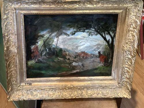 Victorian Pastoral Landscape Oil  29x34�