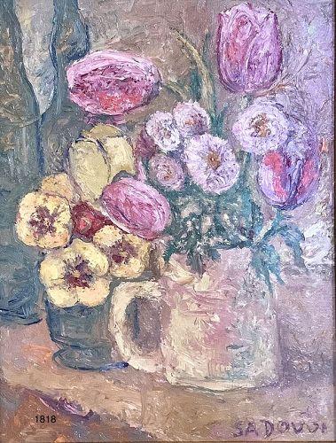 Viacheslav SADOVOI Still Life floral In Oil 12x9�