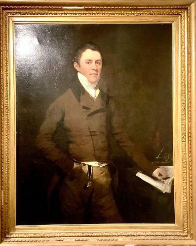 Thomas Hastings Portrait of T.D. Strageways Circa 1815 oil  58x37
