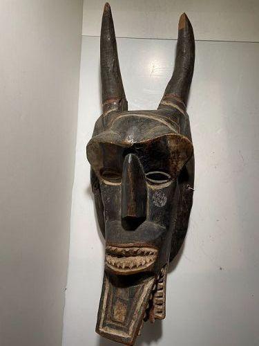 African Ivory Coast Horned Mask