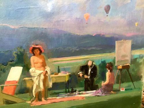 Adolf Konrad 1915-2003 Painter Laureate  �Fete Champetre� 30x50�