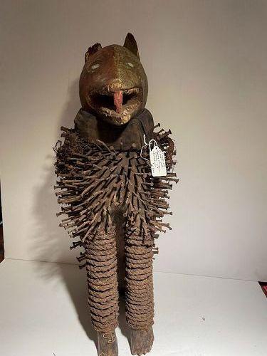African Nkondi Figure from Congo, 1950