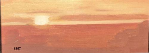 Janice McBride �Sunset over Newport RI Oil 6x12�