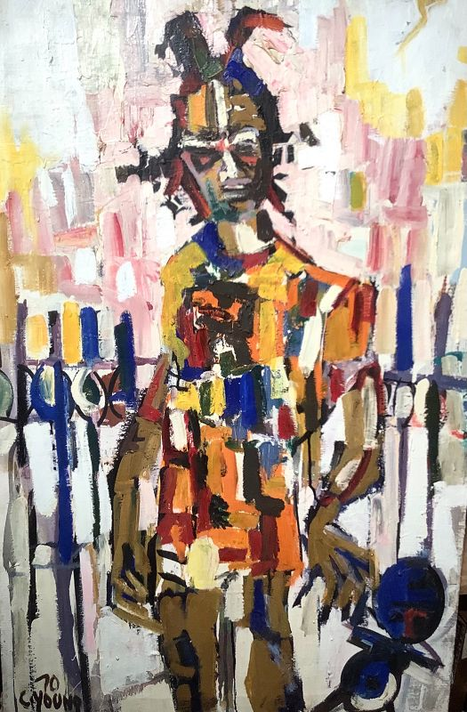 """Washington Artist C.Young Abstract oil 40x26"""""""