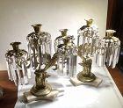 French Empire Gilt Bronze Figural candelabras circa 1820 Pair