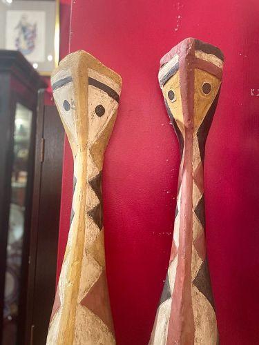 African Baga Snake Figures