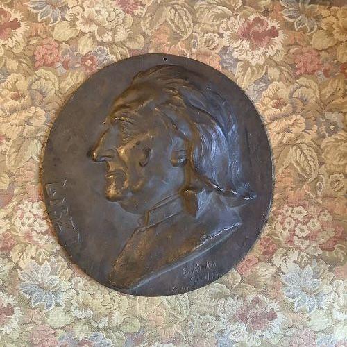 Franz Liszt Memorial Bronze Roundel by artist Ellen Rankin Cropp