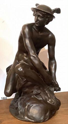 "Jean Baptiste Pigalle 1714-1785 Bronze 23"""