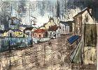 Modernist Artist Juan Herfin Townscape  22x30�