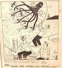 Jeff Keatie American Cartoonist Original 10x8�