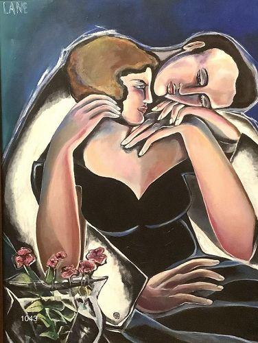 "Master Artist Anne Lane ""Lovers III"" oil 40x30"