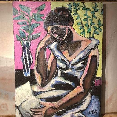 """Anne Lane Washington DC Artist """"The Reader"""" 40x30"""""""