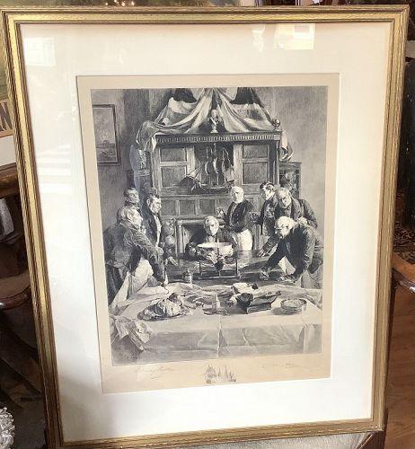 Dendy Sadler Etching Battle of Trafalgar Veterans