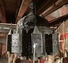 Nineteen Century Ottoman Chandelier In Pierced Metal