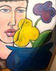 """Anne Lane Washington DC Artist Flower Child Oil 60x48"""""""