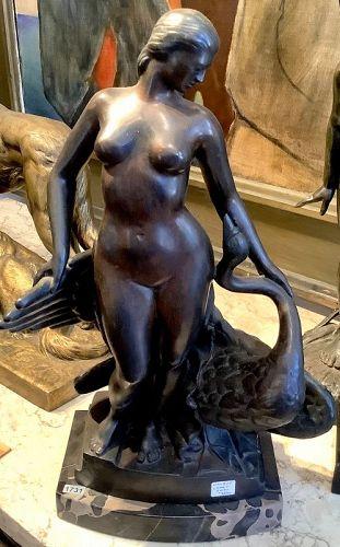 "Edward Fenno Hoffman 1916-1991 ""Bronze Sculpture,Leda and the Swan"