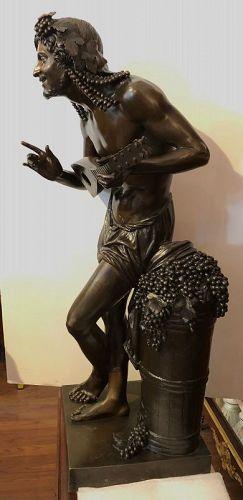 """François-Joseph Duret 18th Century Bronze of Eleutherios """"36"""""""