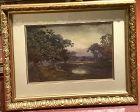 "Arthur Aspinall Watercolor Landscape circa 1910 14x22"""