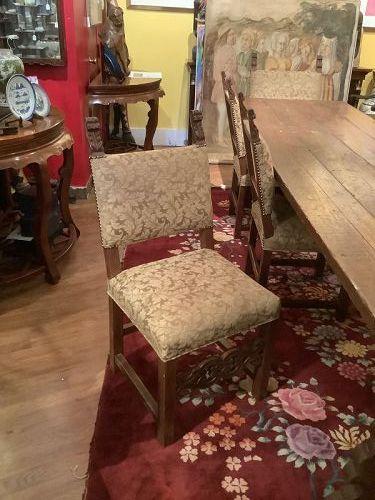 Spanish Renaissance Style Set of 8 Chairs 19th Century