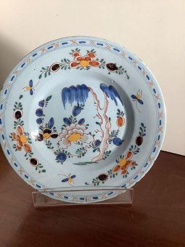 """Dutch Delft Tin Glaze plate  Eighteen Century 9"""""""