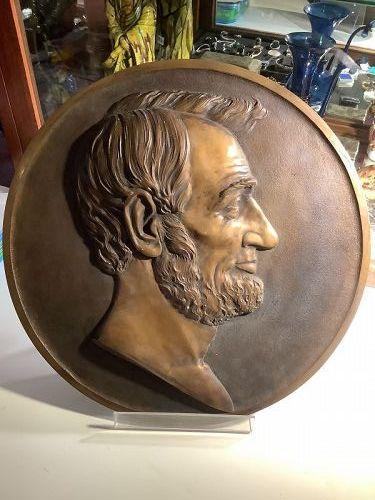Bronze Sculpture of Abraham Lincoln by Artist Victor D. Brenner