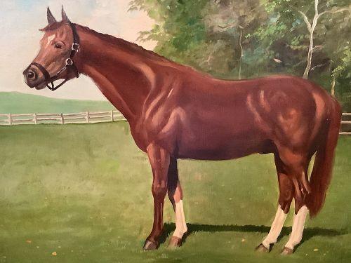 "Triple Crown Winner ""Secretariar"" Artist Sidney King Oil 18x24"