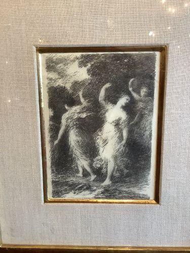 "French Artist Henri Fantin-Latour 1836-1904 Lithograph""Baccus"""