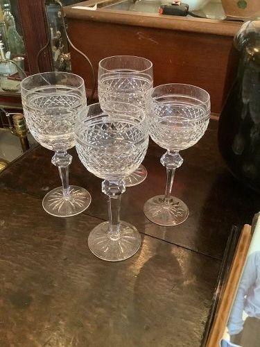 Irish Waterford Crystal CASTLETOWN White Wine Glasses Set of 8