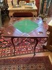 English Game Table Mahogany with Fruitwood Inlay George IV