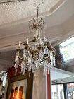 Franco-Italian Gilded Bronze Crystal Chandelier 2nd Empire