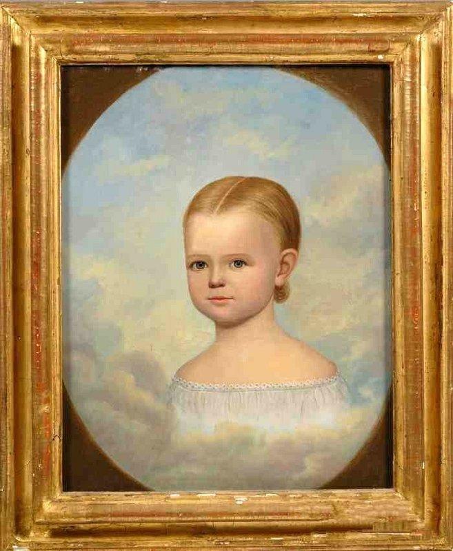 Horace Bundy Mourning Portrait of Child  c1840
