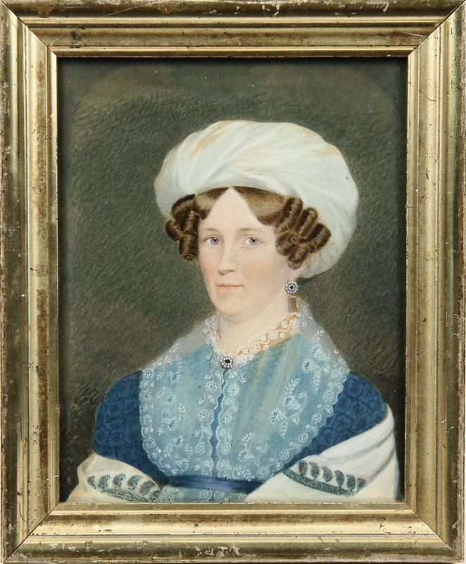 Fine American Portrait of Woman  c1820