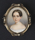 John Carlin Miniature Portrait c1852