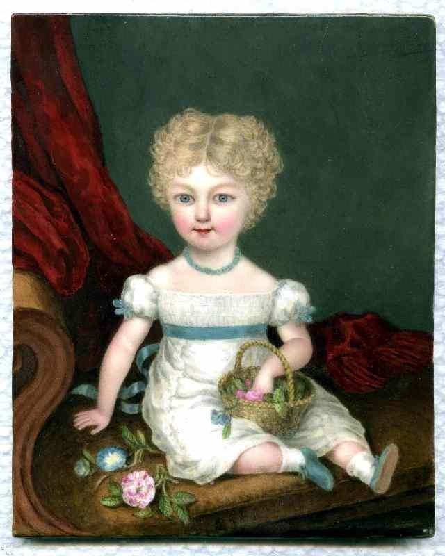 William Corden the Elder Miniature of Young Girl c1825