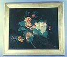 Unusual Tinsel Foil Painting 19th C